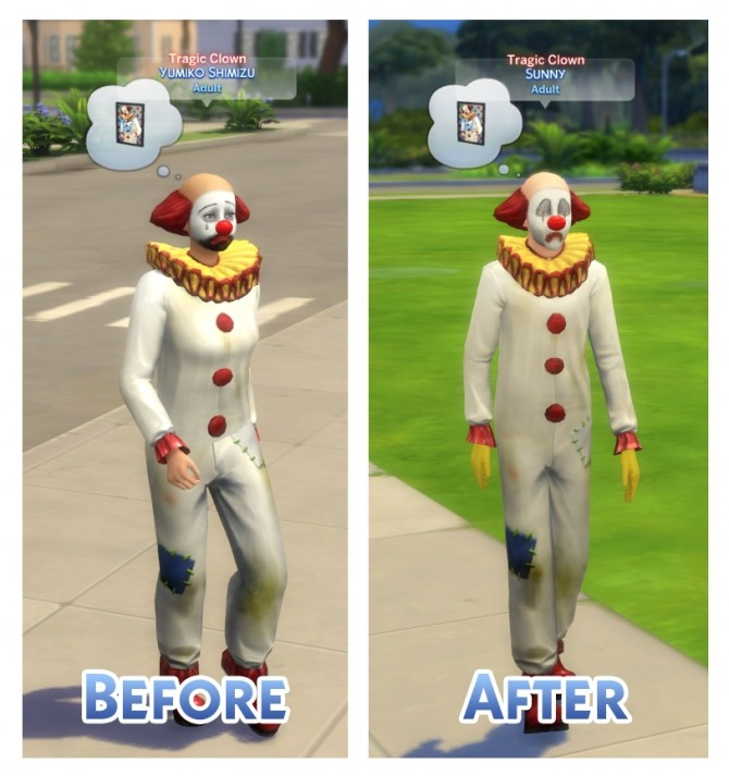 Tragic Clown Overhaul by Menaceman44 at Mod The Sims image 6914 670x713 Sims 4 Updates