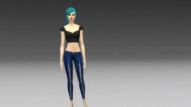Sims 4 GP04 Laced Capris to Full Length by NintendoLover13 at Mod The Sims