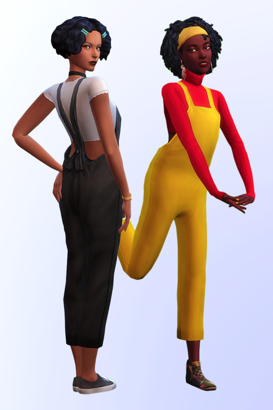 Sims 4 Forever Yours overalls in 20 swatches at Joliebean