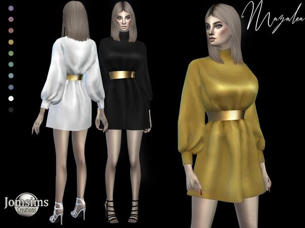 Mazalea dress by jomsims at TSR image 706 Sims 4 Updates