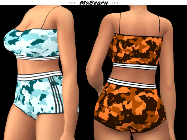 Camo PJ Outfit by MsBeary at TSR image 7100 Sims 4 Updates