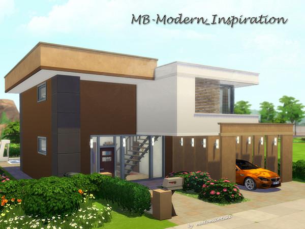 Sims 4 MB Modern Inspiration house by matomibotaki at TSR