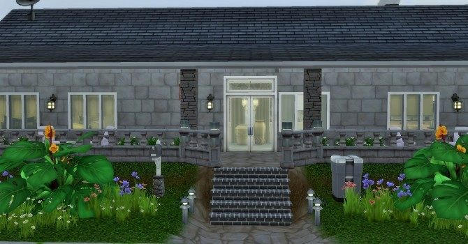 Sims 4 One story House by heikeg at Mod The Sims