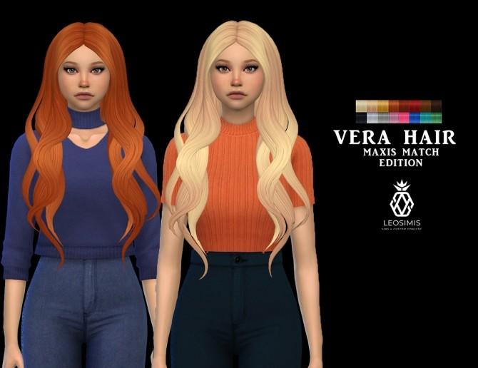 Sims 4 Vera Hair MM at Leo Sims