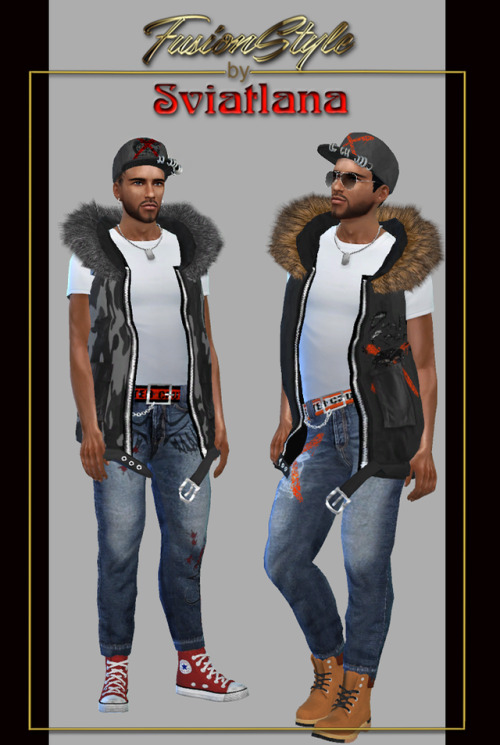 Sims 4 Sleeveless jacket at FusionStyle by Sviatlana