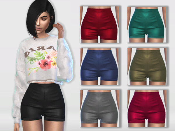 Leather Shorts by Puresim at TSR image 764 Sims 4 Updates