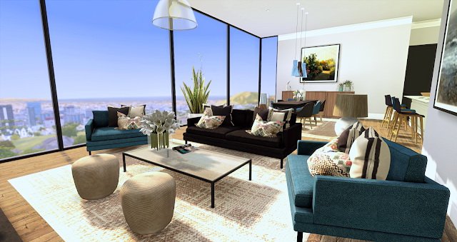Sims 4 Chic Modern Apartment at Liney Sims