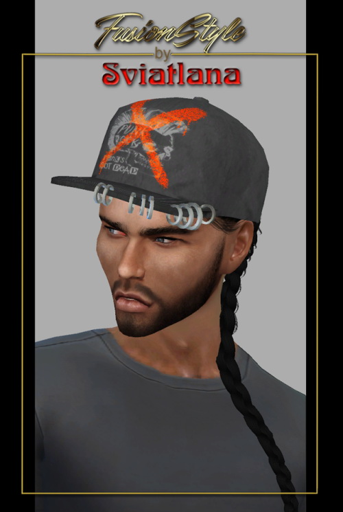 Sims 4 Cap with metal hoops at FusionStyle by Sviatlana