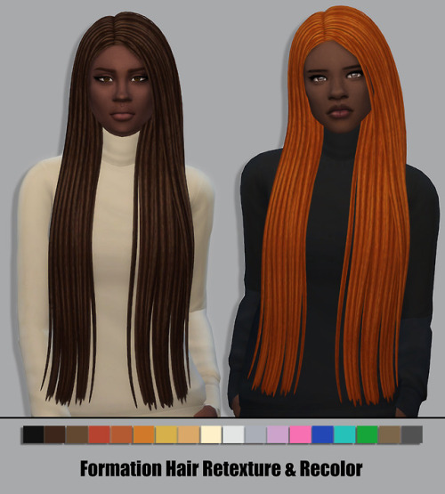 Sims 4 Formation Hair Retexture & Recolor at Maimouth Sims4