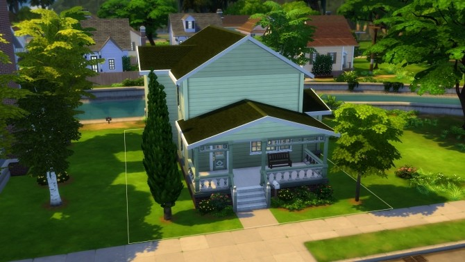 Sims 4 Streamlet single house renovation by iSandor at Mod The Sims