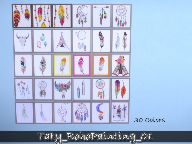 Sims 4 Boho paintings 01 at Taty – Eámanë Palantír