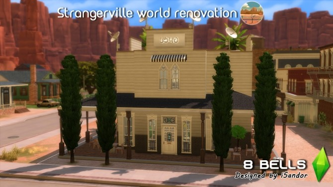 Sims 4 Strangerville renew #3 | 8 Bells bar by iSandor at Mod The Sims