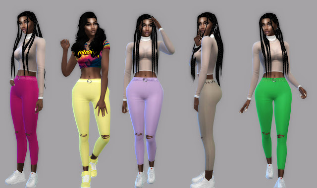 Color Pants Ripped + Acc Belt at Teenageeaglerunner image 8215 Sims 4 Updates