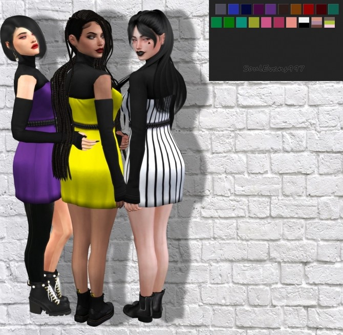 Sims 4 Likey Turtle Neck Dress Recolor at SoulEvans997