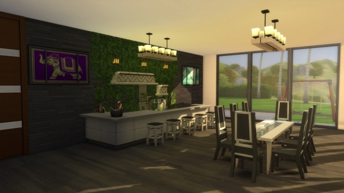 Sims 4 Mega Plaza Top View Modern house by dajuberthelot at Mod The Sims