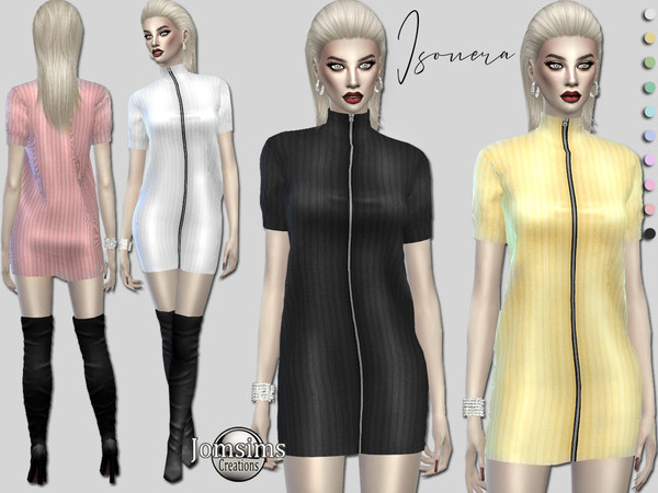 Sims 4 Isouera dress by jomsims at TSR