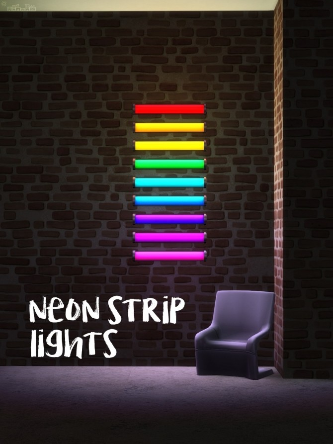 Neon Strip Lights At Picture Amoebae 187 Sims 4 Updates