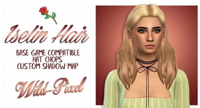 Sims 4 ISELIN HAIR at Wild Pixel