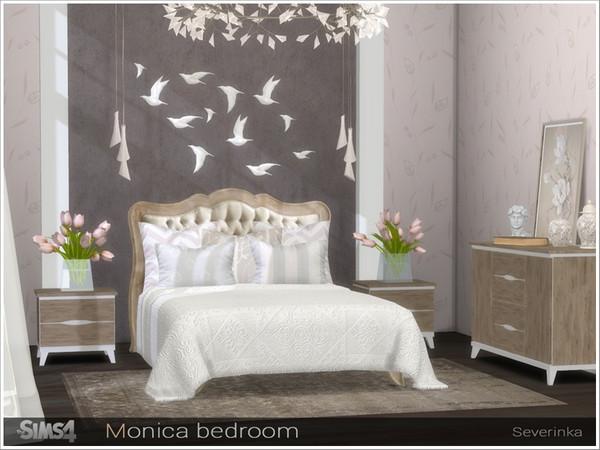 Sims 4 Monica bedroom by Severinka at TSR