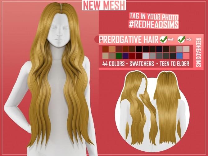 PREROGATIVE HAIR by Thiago Mitchell at REDHEADSIMS image 901 670x504 Sims 4 Updates
