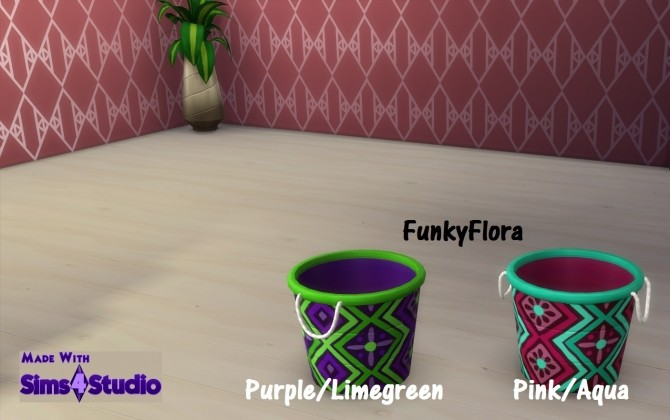Sims 4 Water Balloon Bucket 9 Patterns 34 Colours by wendy35pearly at Mod The Sims