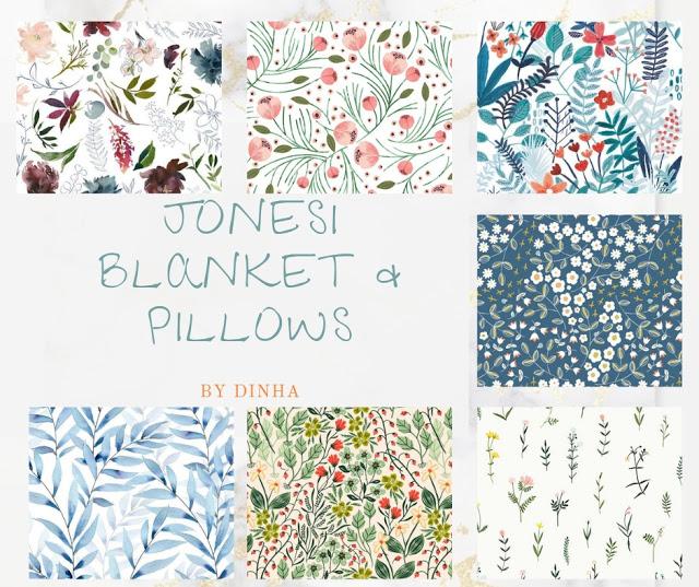 Sims 4 Jonesi Blanket & Pillows at Dinha Gamer