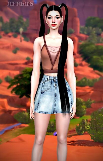Sims 4 Top Conversion Strangerville Mesh edits at Jenni Sims