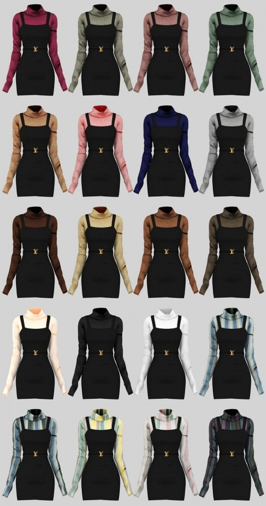 Sims 4 Emilia Dress at Daisy Pixels