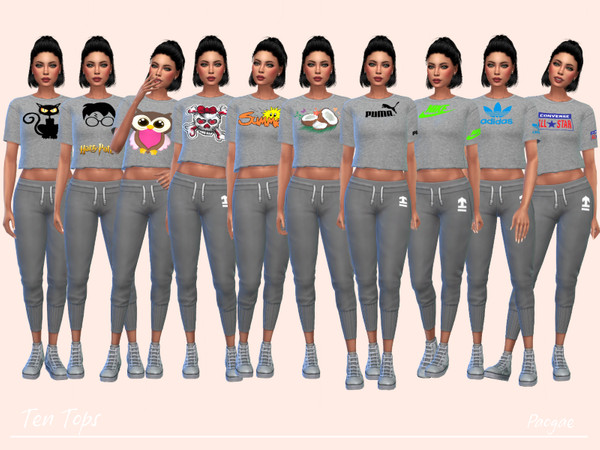 Ten Tops by Paogae at TSR image 966 Sims 4 Updates
