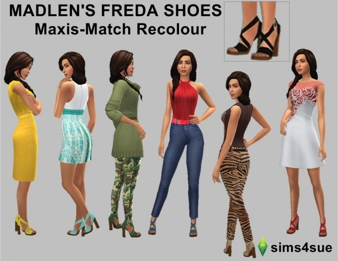 MADLEN'S FREDA SHOES RECOLOUR at Sims4Sue image 978 670x517 Sims 4 Updates