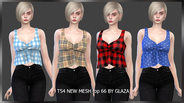 Sims 4 Top 66 at All by Glaza