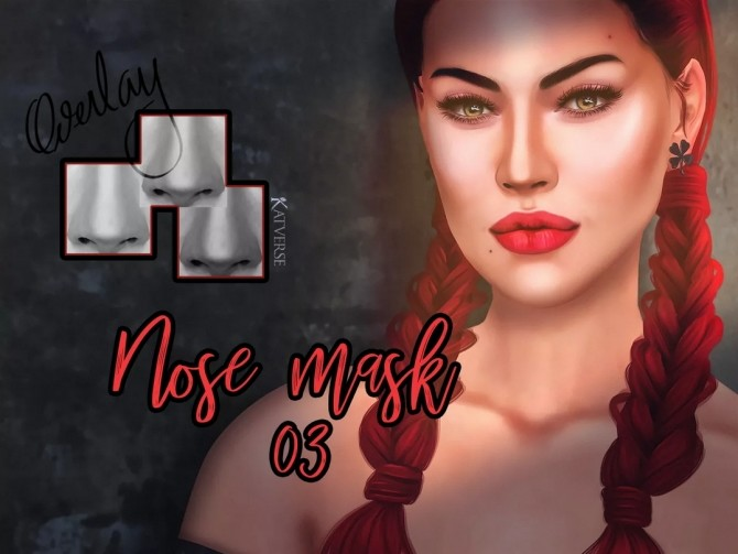 Nose mask 03 Overlay at Katverse image 983 670x503 Sims 4 Updates