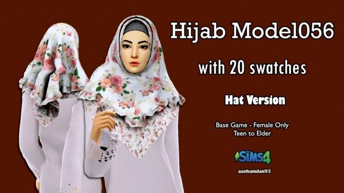 Hijab Model 056, Bodo set & Fish Dress with Slogan Shawl at Aan Hamdan Simmer93 image 1007 670x377 Sims 4 Updates