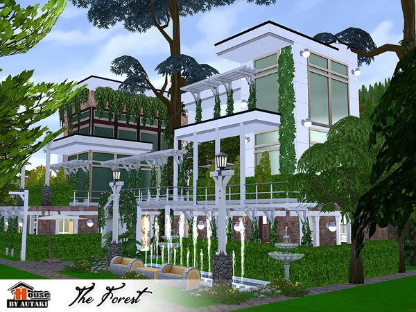The Forest Eco modern style House by autaki at TSR image 10102 Sims 4 Updates