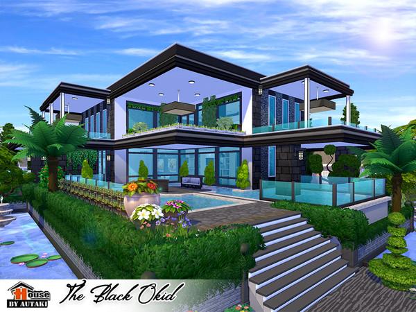 The Black Okid Luxury modern style house by autaki at TSR image 10104 Sims 4 Updates