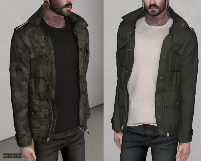 Sims 4 Cargo Jacket at Darte77