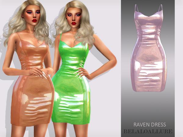 Sims 4 Raven dress by belaloallure at TSR