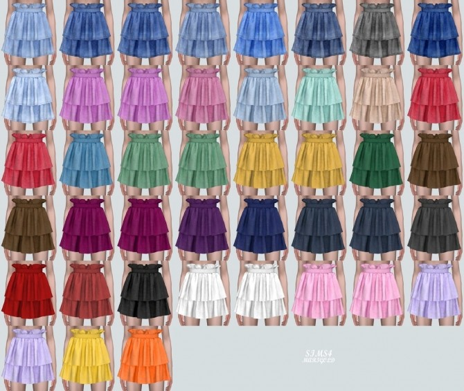 Tiered Skirt 2 at Marigold image 10213 670x566 Sims 4 Updates