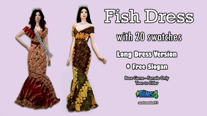 Hijab Model 056, Bodo set & Fish Dress with Slogan Shawl at Aan Hamdan Simmer93 image 1037 670x377 Sims 4 Updates