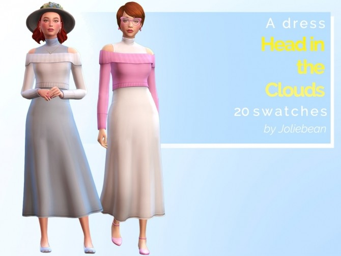 Head in the Clouds dress in 20 swatches at Joliebean image 10416 670x503 Sims 4 Updates