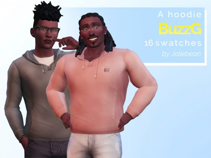 Sims 4 BuzzG hoodie in 16 swatches at Joliebean