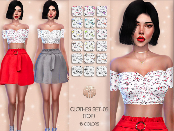 Sims 4 Clothes SET 05 TOP BD38 by busra tr at TSR