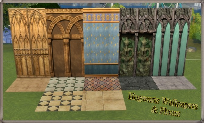Hogwarts random wall and floor set by JH by huso1995 at Mod The Sims image 1052 670x403 Sims 4 Updates