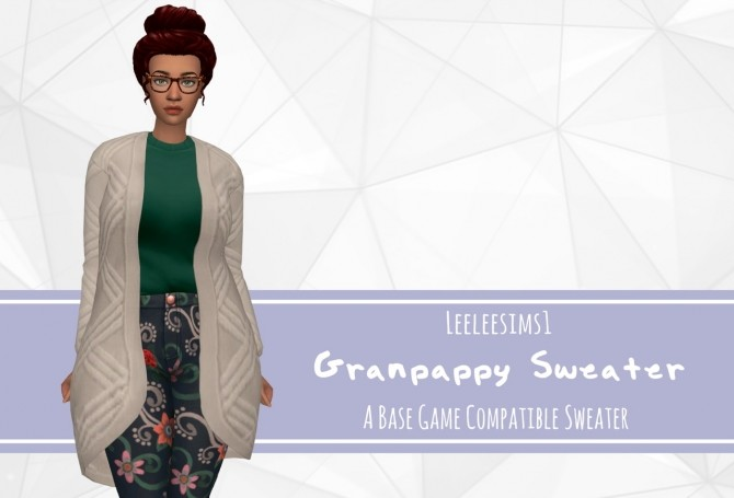 Sims 4 Grandpappy Separated Sweater at leeleesims1