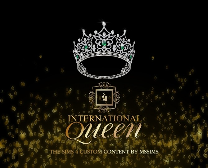 Sims 4 INTERNATIONAL QUEEN CROWN at MSSIMS