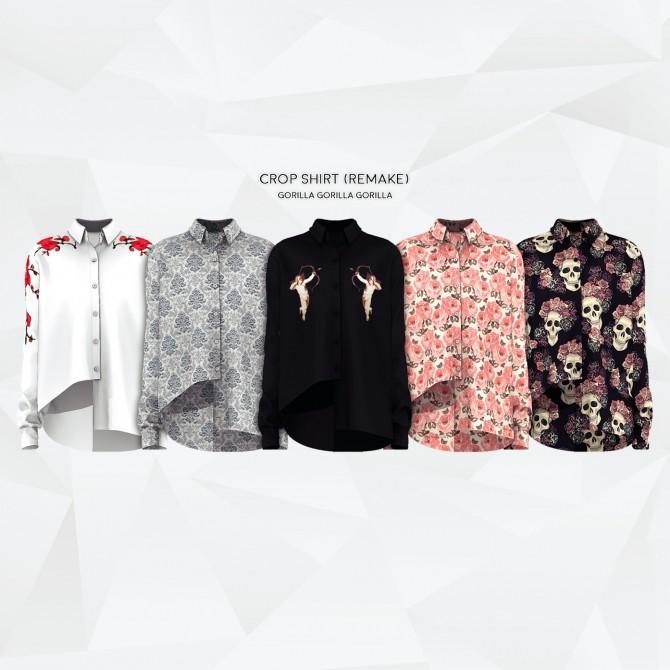 Crop Shirt (Remake) at Gorilla image 1073 670x670 Sims 4 Updates