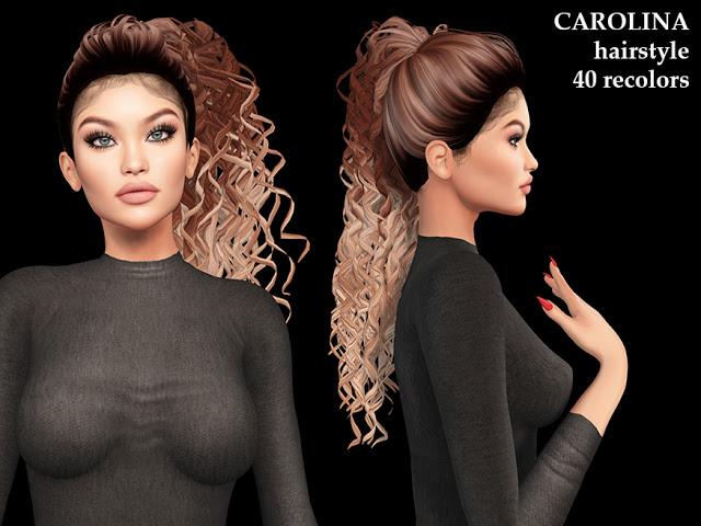 Sims 4 Carolina hairstyle (P) at Luxuriah Sims