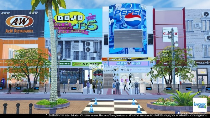 Sims 4 Centerpoint of Siam Square at BangkokSims