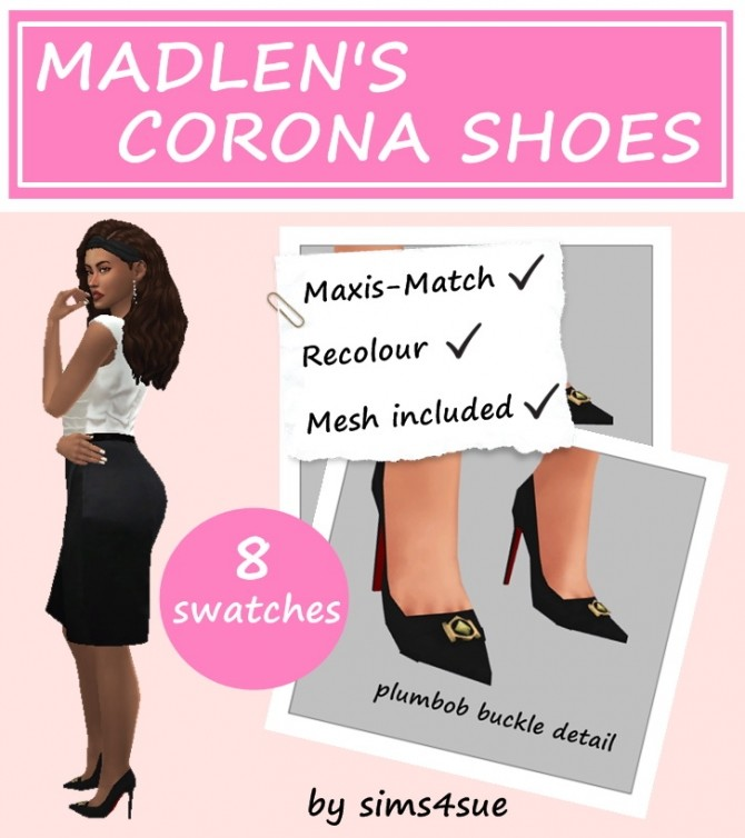 MADLEN'S CORONA SHOES RECOLOUR at Sims4Sue image 10914 670x754 Sims 4 Updates