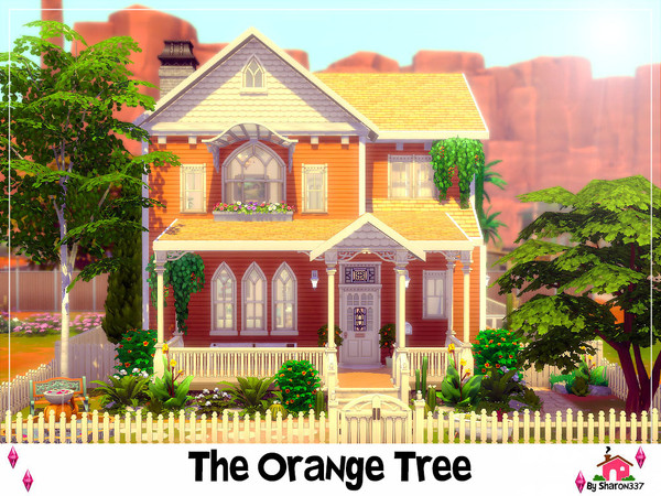 The Orange Tree house by sharon337 at TSR image 1100 Sims 4 Updates